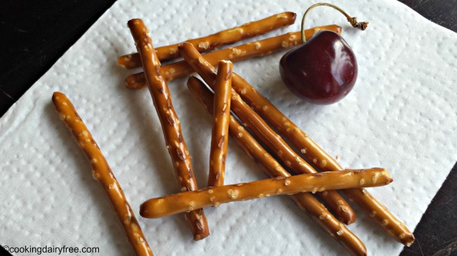 cherry and pretzels