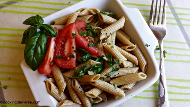 pasta with herbs