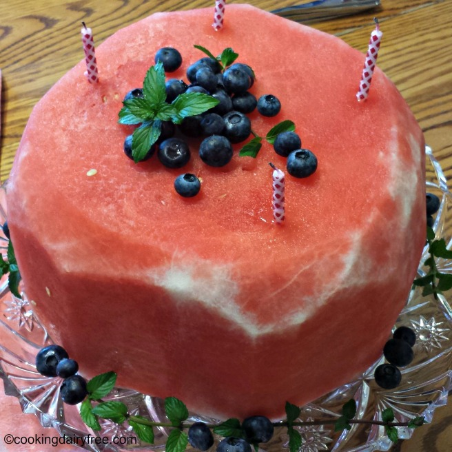 close up watermelon cake 2