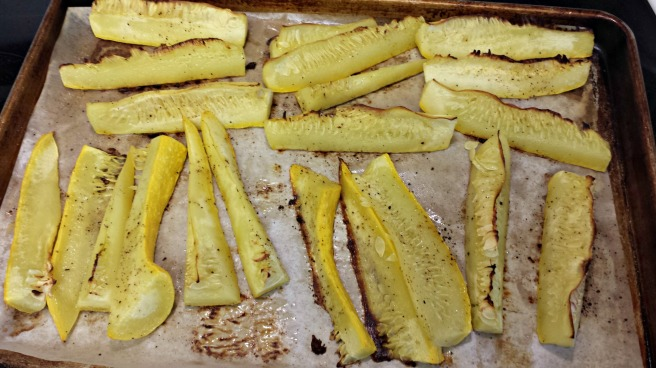 Roasted Squash Sticks
