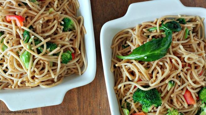 garlic broccoli noodles